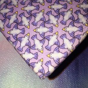 Hermès Silk Necktie Lavender Made in France